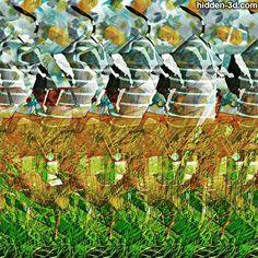 Twist. #3d #stereogram #autostereogram #hidden3d