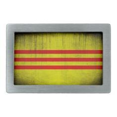 Shop Distressed Flag of Vietnam Rectangular Belt Buckle created by AV_Designs.