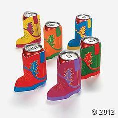 Cowboy Boot koozies...$9.50 for 12! Oriental Trading Company @#OrientalTrading.com #ChristmasWishList.