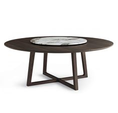 Concorde round table D.137 marble top by Poliform