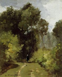 In the Woods (1864) - Camille Pissarro