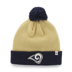 388b0b732d2f1 Los Angeles Rams Bounder Cuff Knit Light Gold 47 Brand Hat