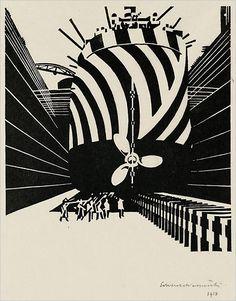 Edward Wadsworth, 1918 Woodcut