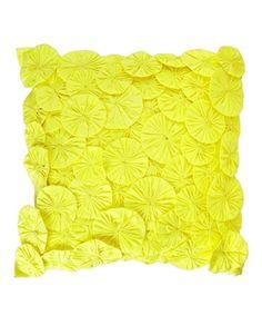 yellow yo-yo pillow