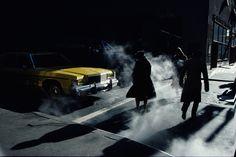 """ Pedestrians crossing a New York street in winter time cast long shadows, © Ernst Haas/Getty Images. New York City, Paris New York, New York Street, Color Photography, Vintage Photography, Street Photography, Modern Photography, Film Photography, William Eggleston"