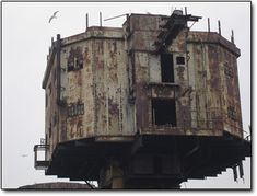 The Maunsell Sea Forts are an arrangement of old sea bunkers off the shores of England originally constructed in 1942 to be used as anti-aircraft stations.