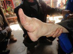 A lotus foot.