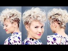 Creative Short Hairstyle: Retro Faux Hawk | Milabu - YouTube