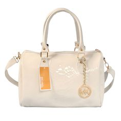Michael Kors Embossed leather Medium White Satchels Outlet