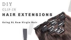 #SLRawVirginHair DIY Clip-in Hair Extensions for ALL Hair Types | Easy S... Latest Hair Trends, Hair Transformation, Clip In Hair Extensions, About Hair, Great Hair, Virgin Hair, Hair Type, Bobby Pins, Hair Accessories