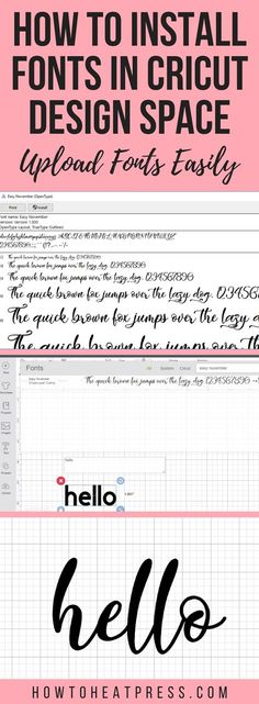 how to install fonts in cricut design space