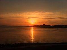 宍道湖の夕陽-gooブログ