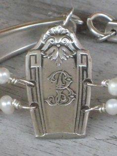 "Spoon Bracelet  Monogram ""B""  $33 by LadyMoore ��"