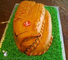 Coolest Cowhide Baseball Glove Cake... Coolest Birthday Cake Ideas