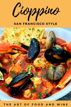 Cioppino Seafood Stew was made famous in San Francisco and has humble origins. This Italian tomato stew is rich, warm and loaded with fresh seafood. Italian Seafood Stew, Seafood Dinner, Seafood Restaurant, Fresh Seafood, Christmas Dinner Recipes Seafood, Keto Dinner, Seafood Menu, Christmas Recipes, Seafood Soup Recipes