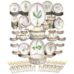 Flora Danica Porcelain Dinner Service | From a unique collection of antique and modern porcelain at https://www.1stdibs.com/furniture/dining-entertaining/porcelain/