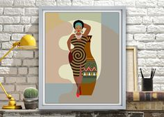 African wall Art, African American Art, African Woman, African Art painting, Black Woman Painting, Black Woman, African Queen AVAILABLE @ $15