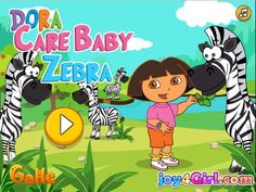 Dora Funny Games For Kids - Dora Care Baby Zebra