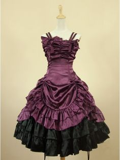 Purple Short Gothic Lolita Dress...I would dress like this all the time if I could