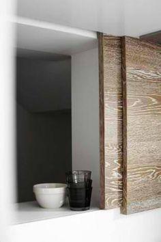 lime washed wooden sliding door, Emma Templeton