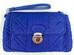 Includes a detachable wristlet strap. Vera Bradley Quilted All-in-One Crossbody Wristlet/Purse - Cobalt Blue.