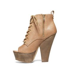 ENGINEE BLACK women's bootie high lace up - Steve Madden