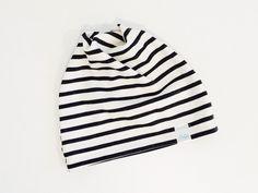 Slouchy Beanie - Grey Stripe
