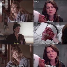dereks first and last scene greys anatomy and Greys Anatomy Derek Dies, Greys Anatomy Bailey, Watch Greys Anatomy, Grey Anatomy Quotes, Greys Anatomy Frases, Grey Quotes, Derek Grey's, Meredith And Derek, Grey's Anatomy