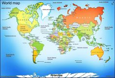 Physical-Map-Of-The-World. Name Of All Countries, World Map With Countries, All World Map, Geography Map, World Geography, Free Printable World Map, Printable Maps, World Political Map, World Map Continents