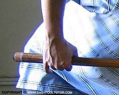 THE POOL GRIP. A good grip is an important aspect in the game of pocket billiards. A proper grip allows you to make accurate shots. On the other hand, a bad grip will limit your potential for improvement. Your grip must feel natural to feel right. A good grip combined with a sound stroke allows you to thrust your cue along a straight path.