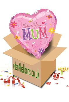 Mothers Day - Balloons - 'Love You Mum' Balloon in a Box