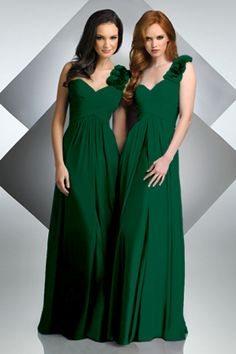 Nothing in hunter green?! :  wedding bridesmaids budget colour compromise dress forest green what i want Bridesmaiddresses