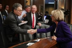 Sen. Franken: No Democrat will vote for Betsy DeVos as education secretary - and we're seeking Republicans to oppose her. Teacher Union dictate to Franken.