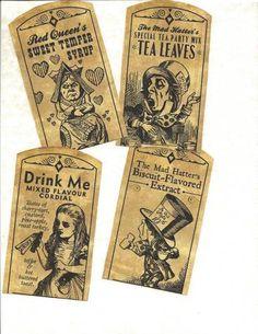 cr- Labels Alice in Wonderland Primitive Labels
