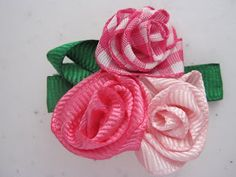 For Kicks and Giggles: Ribbon Rose Hairbow Tutorial