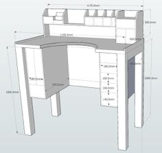 Jewelers Bench plans with dimensions Google Sketchup plans - Soft copy download   A bundle for 15 very detailed drawings you can modify and change to your own needs. The bundle includes everything you need for the main Jewelers Bench, as well as the tabletop storage unit.