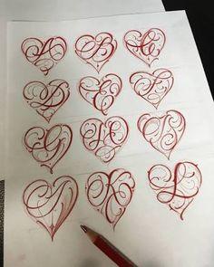 Resultado de imagem para letter a heart tattoo designs