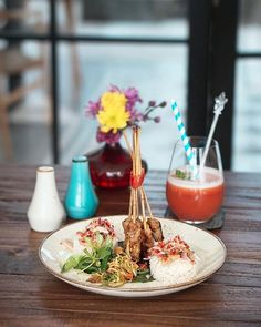 Time to spend a nice weekend at @ThePublicGourmet Nusa Dua savour your palate with their delicious Indonesian delicacies in a cute tropical ambiance  This is one of the favorite dish here Kampial Sate Tuna Balinese inspired tasteful tuna satay with sambal matah. --- The Public Gourmet Kitchen & Pool Jalan Dharmawangsa Kampial Nusa Dua --- #foodcious #nusadua #eatout #balirestaurant #indonesianfood