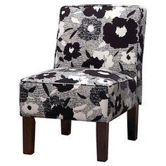 Burke Slipper Chair Grey - Skyline