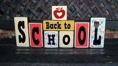 Back to school blocks by jjnewton on Etsy, $23.00