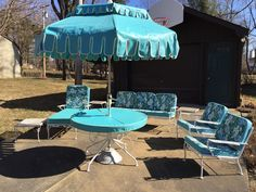 1960's patio set. Stored in an enclosed porch for 50 years!  For sale for $1275