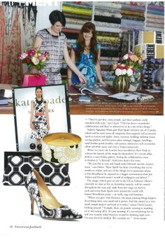 Kate Spade and Florence Broadhurst design - feat. in Vouge Living