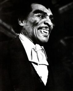 """Actor/ Opera singer William Marshall. As the infamous Black Dracula,  """"Blacula""""."""