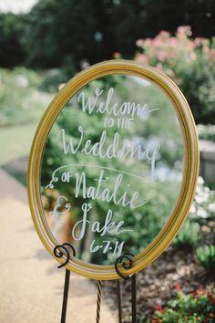 cute mirror sign wedding decors for traditional garden wedding