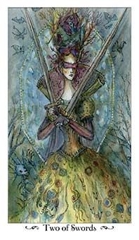 April 20 Tarot Card: Two of Swords (Paulina deck) Big decisions don't just go away, no matter how long you try to hide from them. Take an active role in making this choice now: Gather the information you need, weigh the pros and cons, and set yourself in forward motion