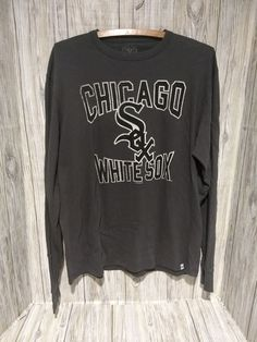 ae2624ee9a0 Chicago White Sox Long Sleeve Soft Comfortable Gray Shirt Size Medium -  unisex 100% Cotton