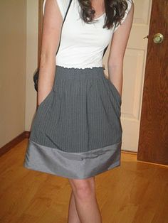 Tutorial to add fabric to lengthen a short skirt. I know exactly which one I need to elongate!