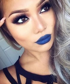 Pin for Later: 25 Vampy Lipsticks Ideas to Create an Easy, Affordable Halloween Look Bold Blues