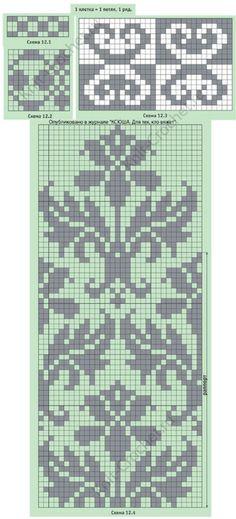 New knitting needles sizes mittens pattern 47 Ideas Fair Isle Knitting Patterns, Knitting Charts, Loom Patterns, Knitting Stitches, Knitting Designs, Crochet Patterns, Knitting Needles, Filet Crochet, Crochet Chart