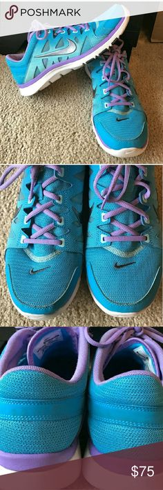 Nike FUC Women's Size 9 Blue and Purple Training Shoes Preloved with a lot of life left Nike Shoes Athletic Shoes